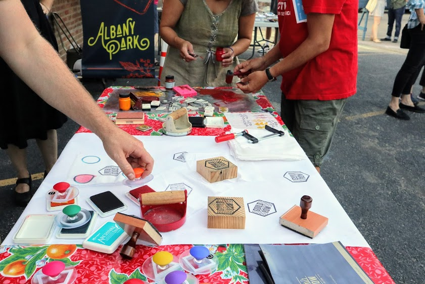 Making art at Lot Jams with Guild Row Chicago
